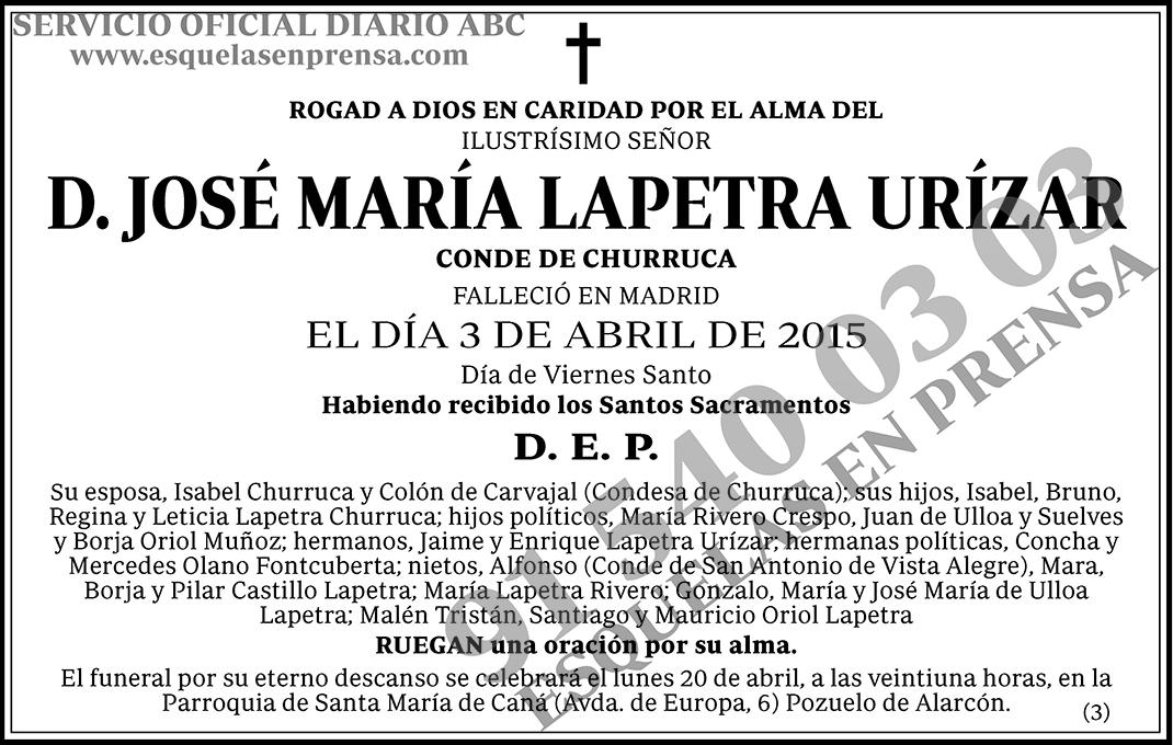 José María Lapetra Urízar